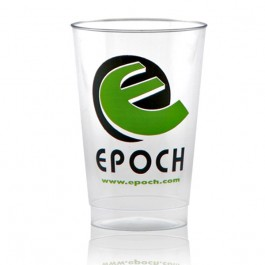 12 oz Clear Plastic Cup Personalized