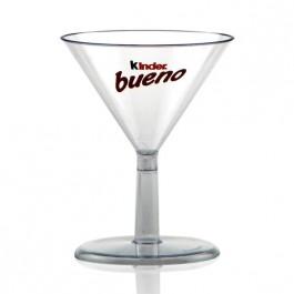 2 oz Clear Plastic Mini Martini Glasses