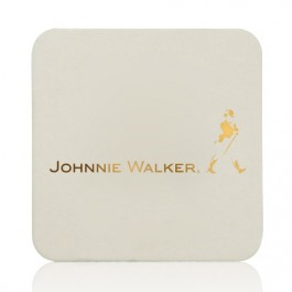 "40 PT. 3.5"" Foil Stamped Square Drink Coasters"