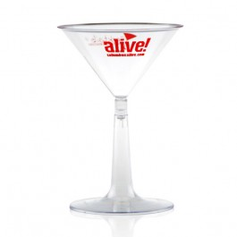 6 oz Clear Plastic Martini Glass Personalized
