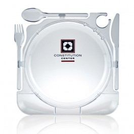 Clear CaterPlate Snack Trays + Utensils