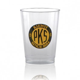 10 oz Fluted Clear Plastic Cup Imprinted