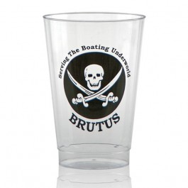 14 oz Fluted Clear Plastic Cup - Personalized Printed