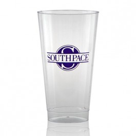 16 oz Fluted Clear Plastic Cup - Personalized