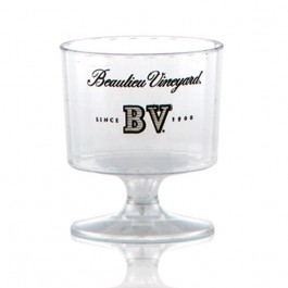 2 oz Fluted Plastic Wine Glass Personalized