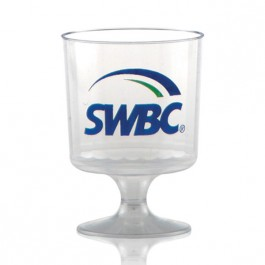 5 oz Fluted Plastic Wine Glass Custom