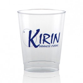 8 oz Fluted Clear Plastic Cup Personalized