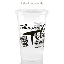 20 oz Greenware Clear Plastic Cup Custom