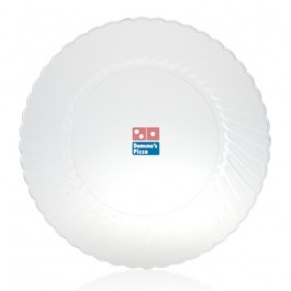 "10"" Clear Plastic Dinner Plates"