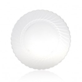 "7.5"" Clear Plastic Lunch Plates"