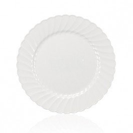 7.5-inch White Plastic Lunch Plate Custom