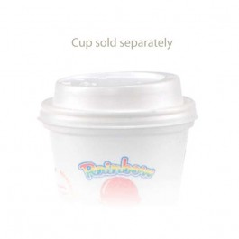 8 oz Dome Foam White Coffee Cup Lids