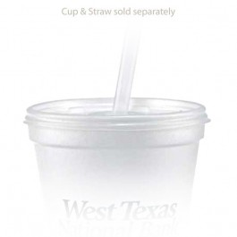 12 oz Straw Slot Frosted Cup Lid