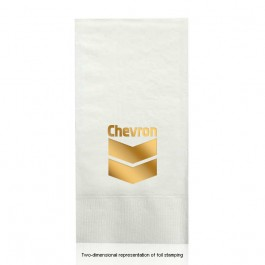 Foil Stamped White Guest Hand Towels