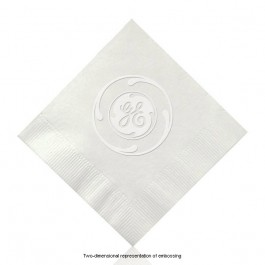 Embossed White Cocktail Napkins