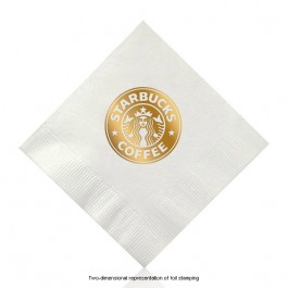 White Cocktail Beverage Napkin Personalized