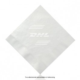 Embossed White Luncheon Napkins