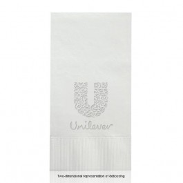 Debossed White Dinner Napkins