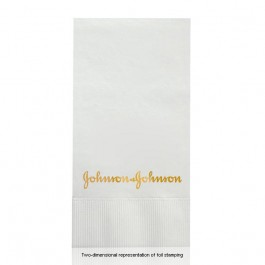 Foil Stamped White Dinner Napkins