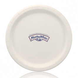 "9"" White Coated Paper Dinner Plates"