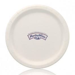 "9"" White Coated Paper Dinner Plates"
