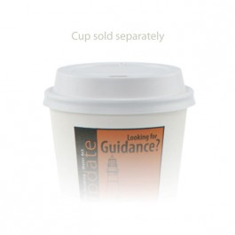 8 oz Dome White Coffee Cup Lid