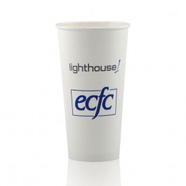 20 oz White Paper Cup Custom