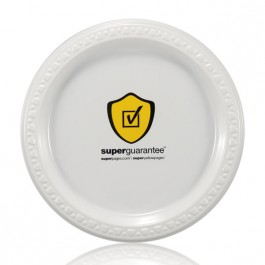 "7"" White Plastic Lunch Plates"