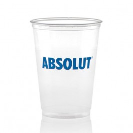 10 oz Soft Clear Plastic Cup Printed