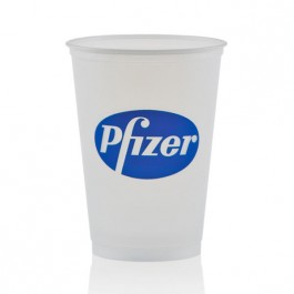 10 oz Soft Frosted Plastic Cup Promotional