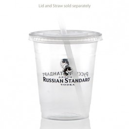 12 oz Soft Clear Plastic Cup Custom
