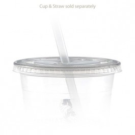 12 oz Straw Slot Clear Cup Lids