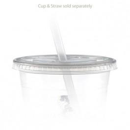12 oz Straw Slot Clear Cup Lids