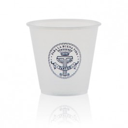 3.5 oz Soft Frosted Plastic Cup Imprinted