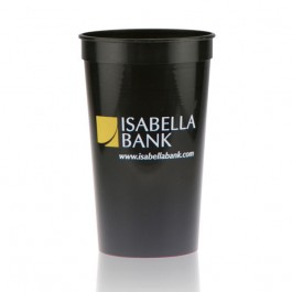 22 oz Black Stadium Cup Personalized