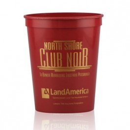 16 oz Burgundy Stadium Cup Personalized
