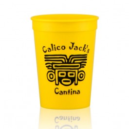 12 oz Yellow Stadium Cup Imprinted