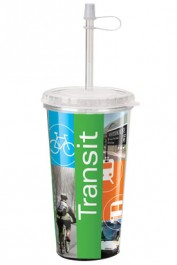 16 oz. Take Out Full Color Travel Tumblers Personalized