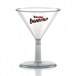 2 oz Clear Plastic Mini Martini Glasses