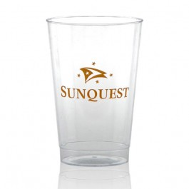 12 oz Fluted Clear Plastic Cups