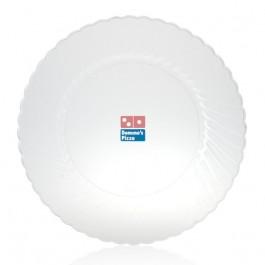 "10"" Clear Plastic Dinner Plates"