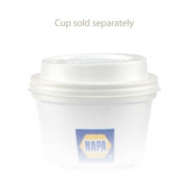 10 oz Dome Foam White Coffee Cup Lids