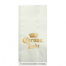 Almost Linen Foil Stamped White Guest Hand Towels