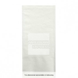 Embossed White Guest Hand Towels