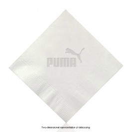 Debossed White Cocktail Napkins