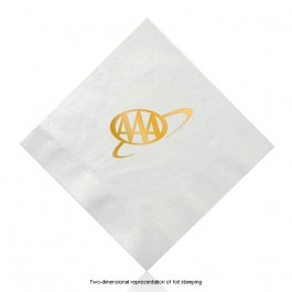 Foil Stamped White Luncheon Napkins