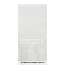 Embossed White Dinner Napkins