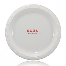 "10"" White Plastic Dinner Plates"